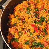 Smoked Sausage and Red Rice Skillet Recipe