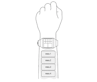 Samsung patent smartwatch projector screen