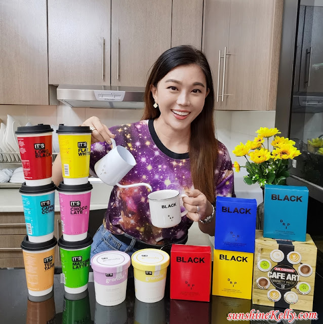 Aik Cheong Coffee IT'S Cup Coffee, It's Granola, Black Drip Series, Café Art, Aik Cheong Coffee Brand Ambassador, Tan Boon Heong, Coffee Review, Food