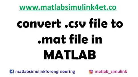How to convert .csv file to .mat file in MATLAB