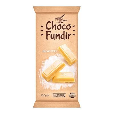 Chocolate blanco para fundir Hacendado