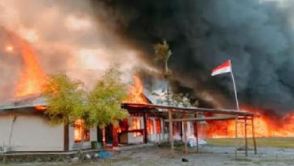 Total 34 Kantor Pemerintah, 126 Ruko-Ratusan Motor Dibakar Massa di Yalimo