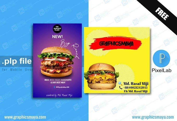 Burger Design Template PLP - PixeLab Project File