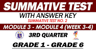 SUMMATIVE TEST NO. 2 with Answer Key (Quarter 3: Modules 3-4)