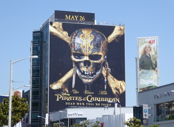 Giant Pirates Caribbean Dead Men Tell No Tales billboard