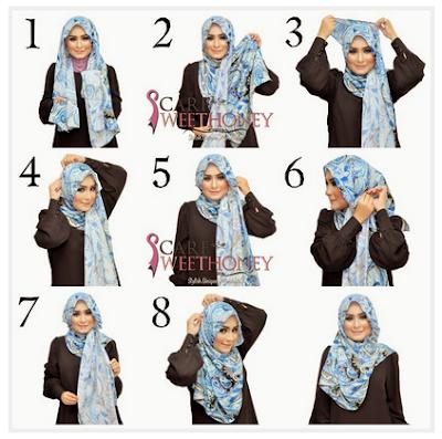 10 Tutorial Hijab Syar'i Namun Tetap Fashionable 2018