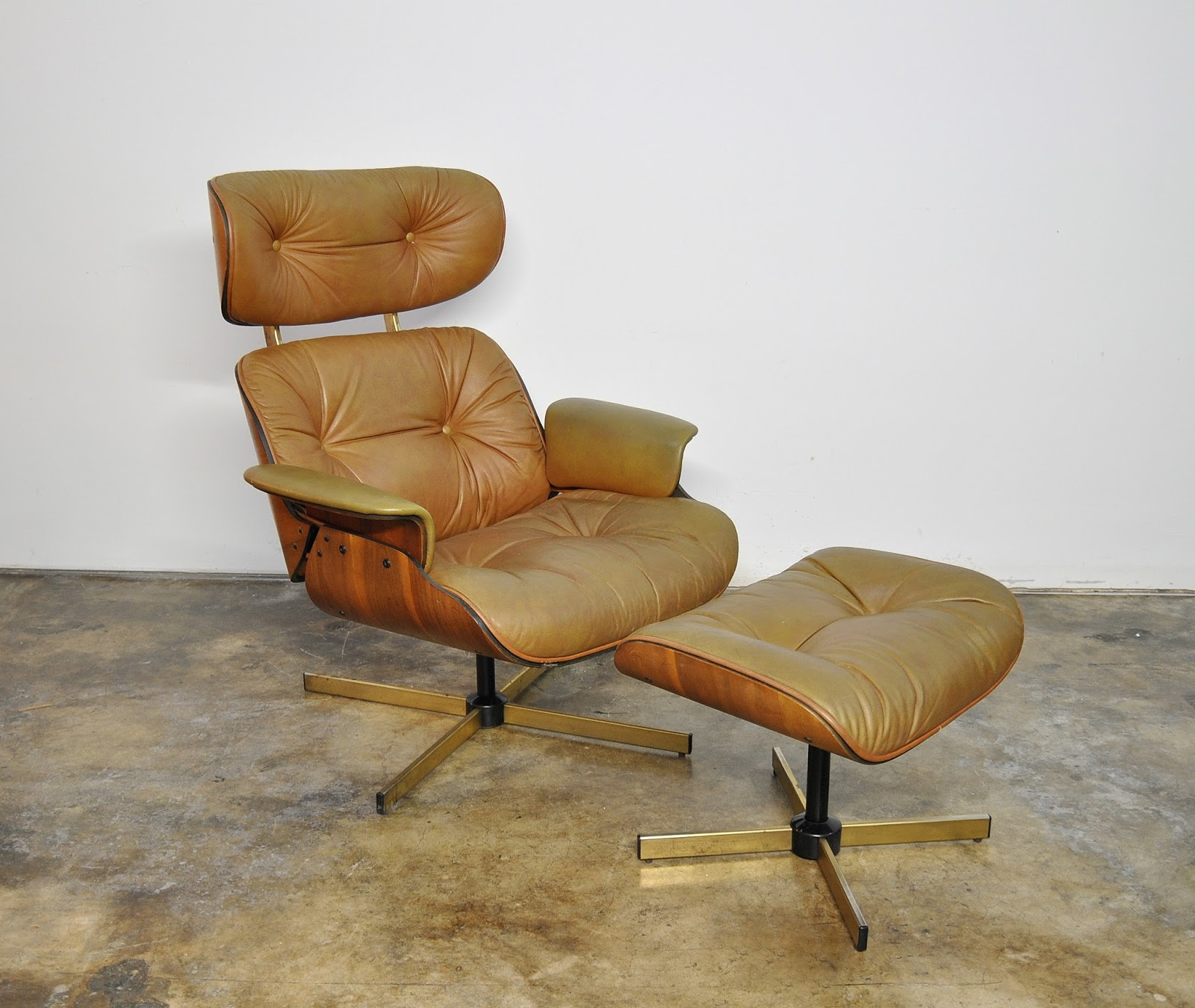 Eames Lounge Select Modern: Frank Doerner Eames Style Leather Lounge