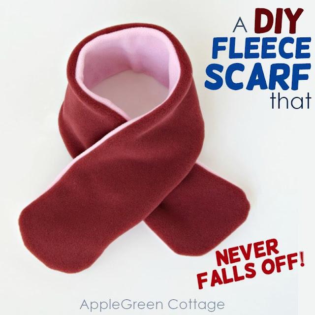 diy fleece scarf