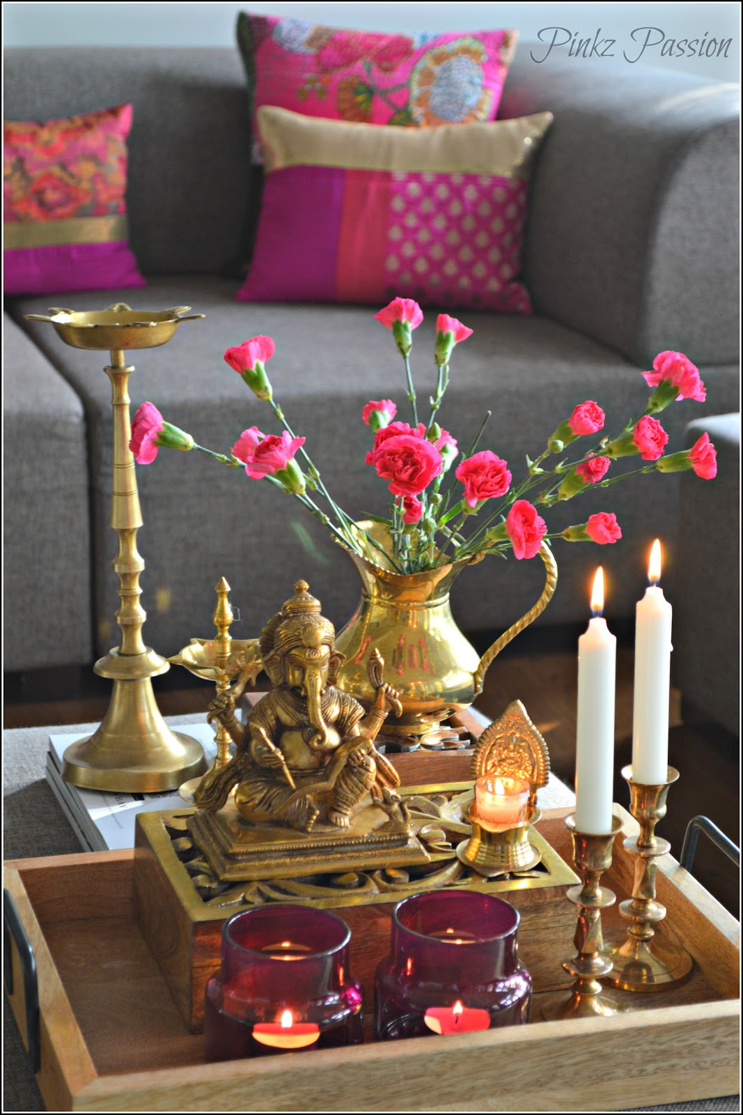 Pinkz passion for Indian home decor ideas living room