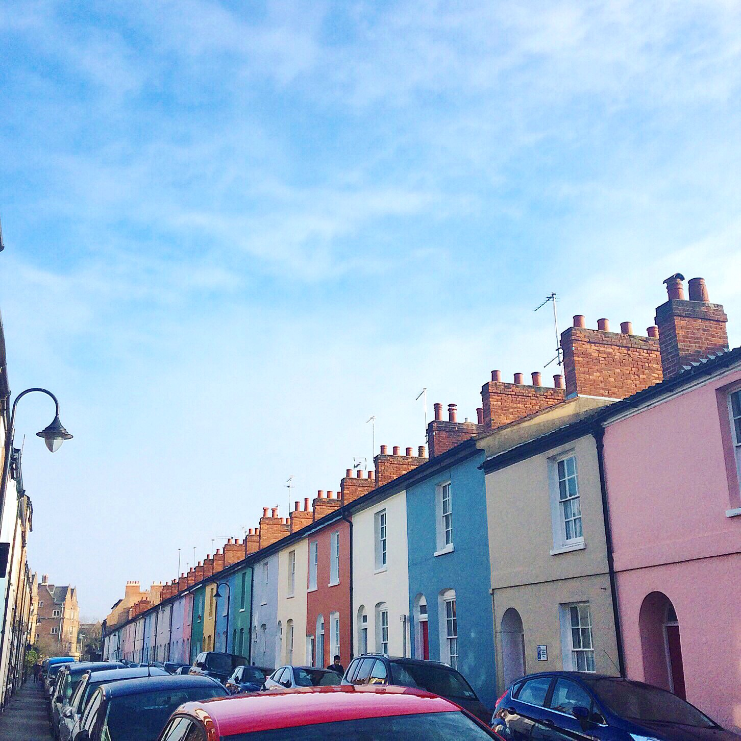the colorful houses of Jericho, Oxford