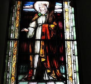 Vitral de Santa Ângela Merici - Igreja das Dores, Santa Maria (RS)
