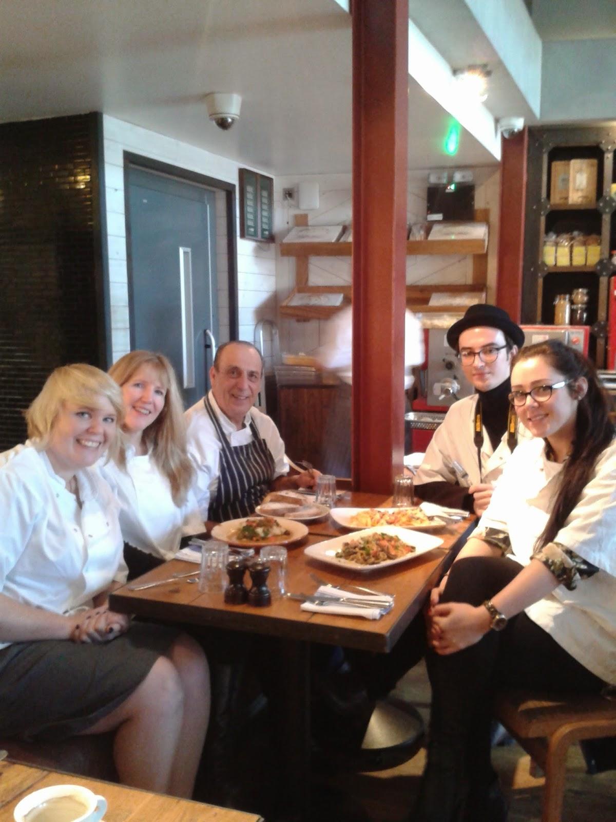 Gennaro Contaldo with his blogger students