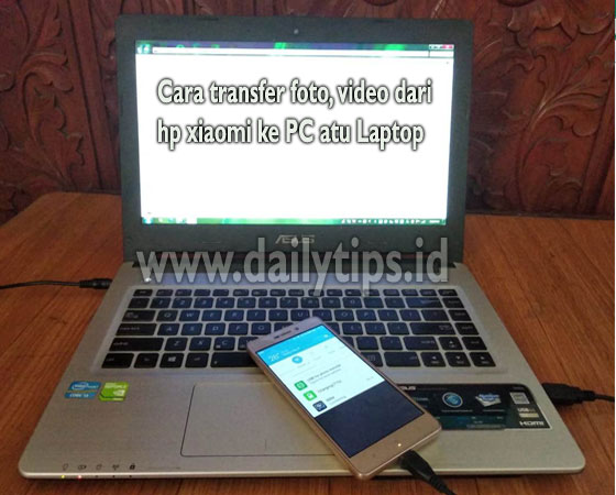 cara transfer foto dan video, file dari hp xiaomi ke pc atau laptop