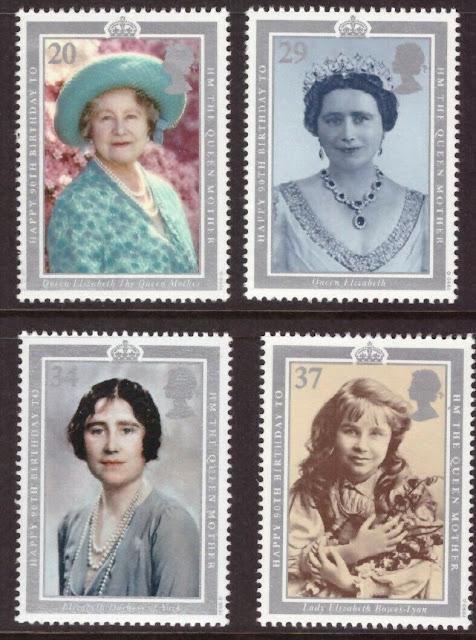 Great Britain MNH 1990 Queen Mother Elizabeth set