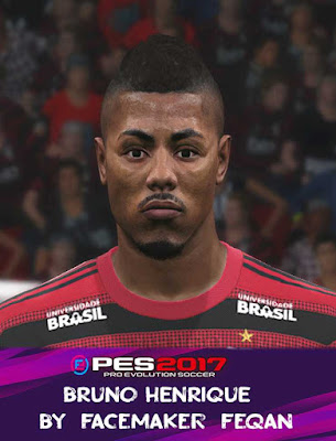 Bruno Henrique Face Pes 2017 by Feqan