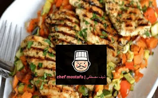 Spicy chicken slices with Mexican spices