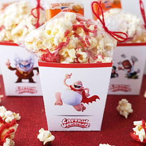Captain Underpants Popcorn Boxes