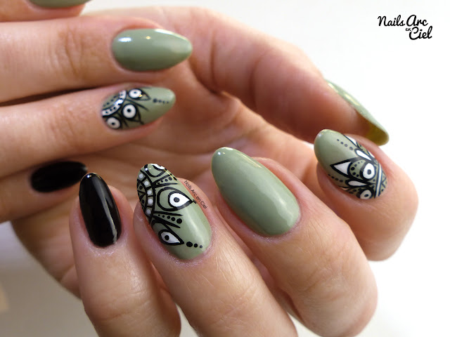 Nail Art - Mandalas par Nails Arc en Ciel