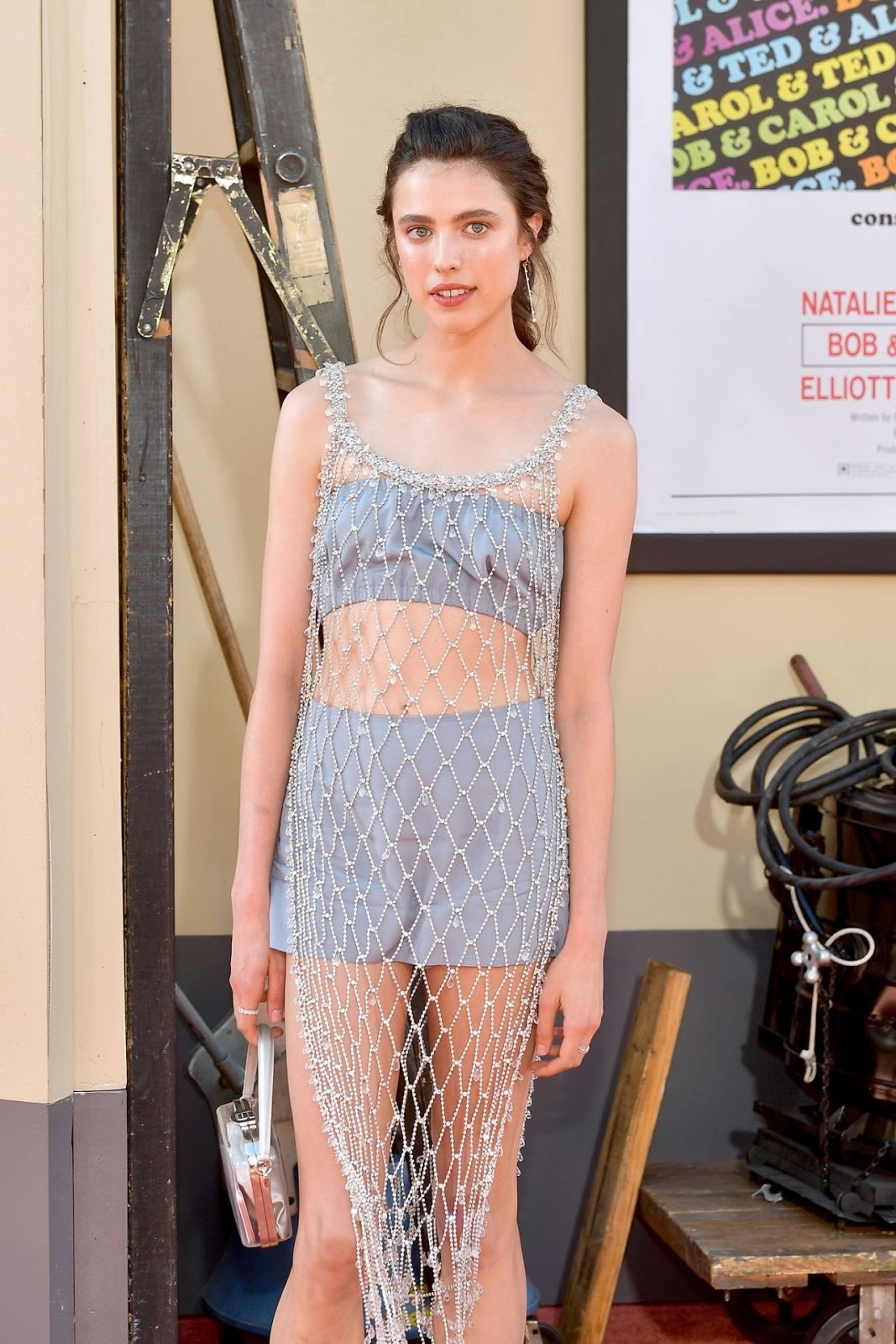 Margaret Qualley shows off her toned tum in netted dress at Once Upon A Time In Hollywood premiere