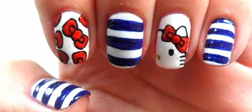 diseno de unas Hello Kitty