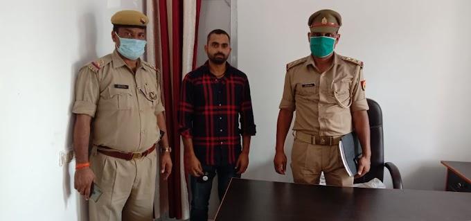 दुर्जनपुर हत्याकांड का आरोपी तमंचे के साथ गिरफ्तार