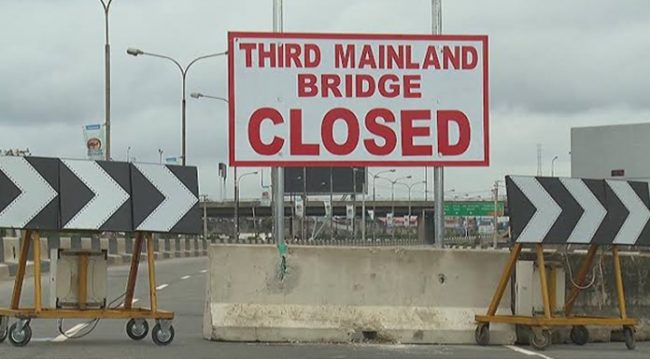 Lagosians React As Closure Of Third Mainland Bridge Commences