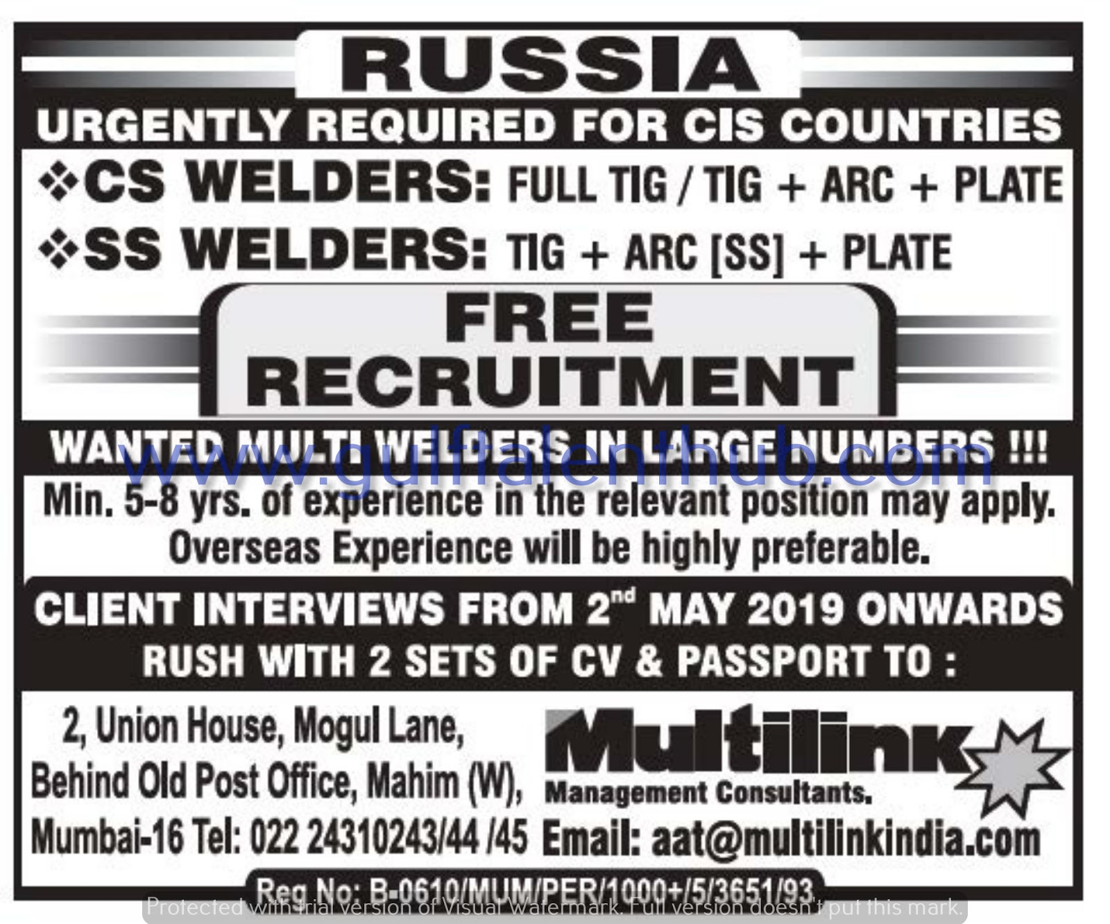 Assignment Abroad Times Gulf Interview's Today 27 April 2019