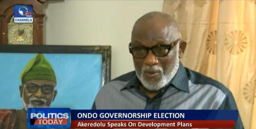 Rotimi Akeredolu,Ondo state governor-elect