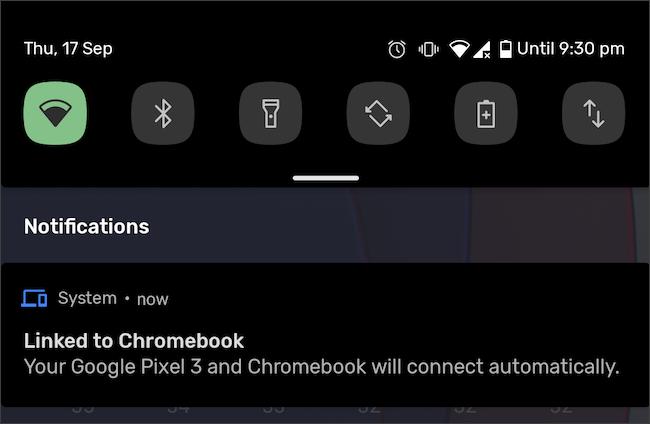 هاتف Android و Chromebook المرتبط بالإعلام