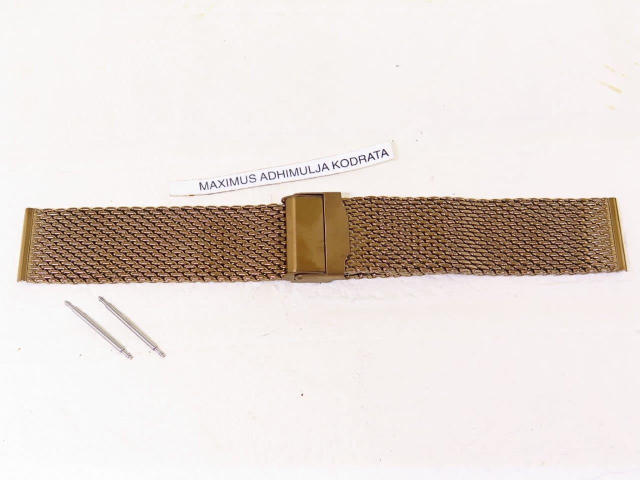 MESH BRACELET BRONZE COLOUR MILANESE STAINLESS STEEL 22mm