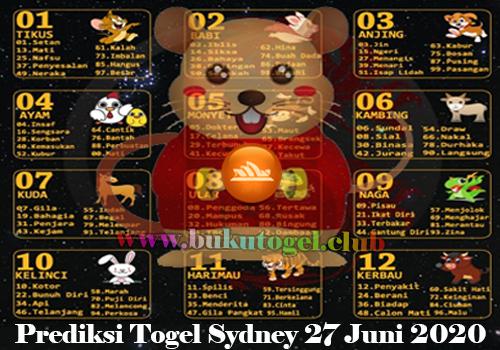 PREDIKSI TOGEL SYDNEY 27 JUNI 2020