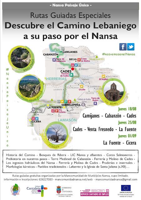 Rutas Especiales Camino Lebaniego a su paso por el Nansa