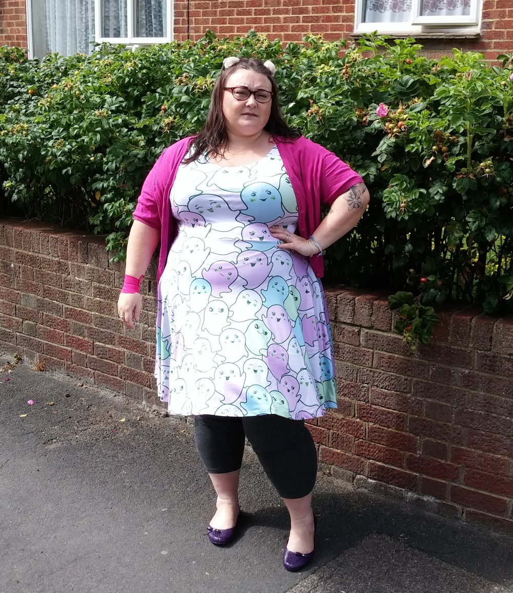 Cowcow Kawaii Ghosts Plus Size Dress Love Leah