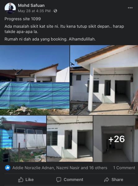 Contoh rumah busuk yang pernah diuruskan oleh tuan Mohd Safuan (Site no 1099)