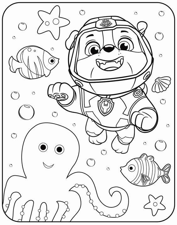 Paw patrol coloring pages 17