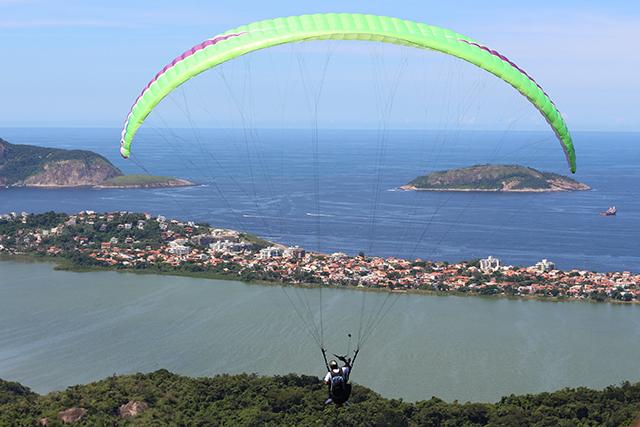 Salto de Parapente Parque da Cidade Niterói