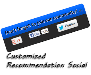 Recommendation Social Join us Widget for Blogger