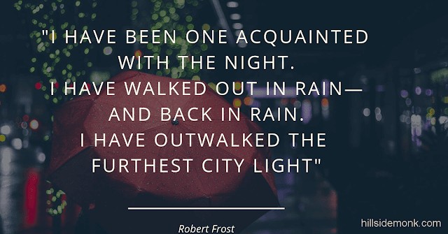 Robert Frost Short Poems - Acquainted with The Night