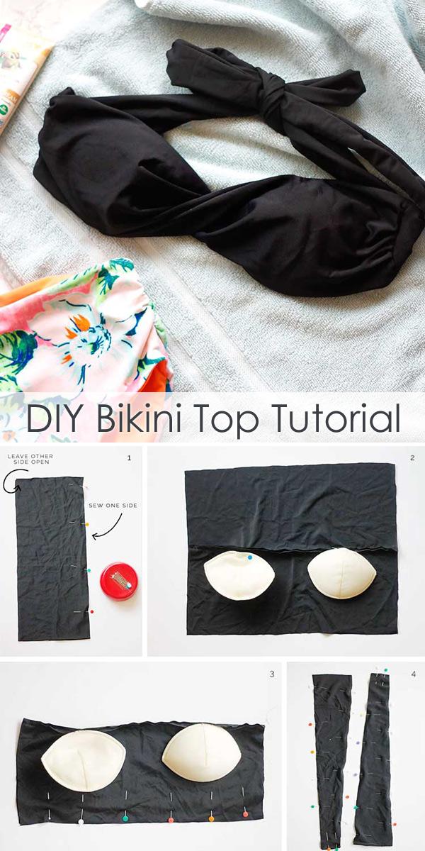 Sew a Bikini Top - DIY Bikini Tutorial