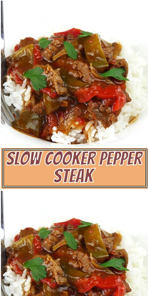 Tasty Slow Cooker Pepper Steak #Slowcooker
