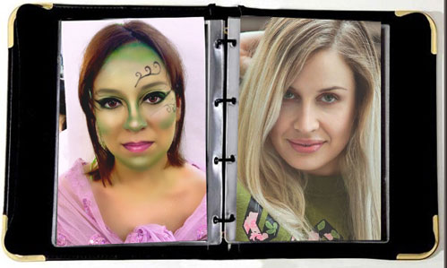 Portafolio fisico de maquillaje profesional