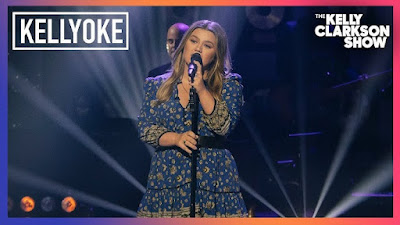 Kelly Clarkson Brings Kellyoke To A Rarity Visit. Covering HER very own 2015 'Piece by Piece' album track, 'Tightrope! 🕯🌟🎶🎙🎭