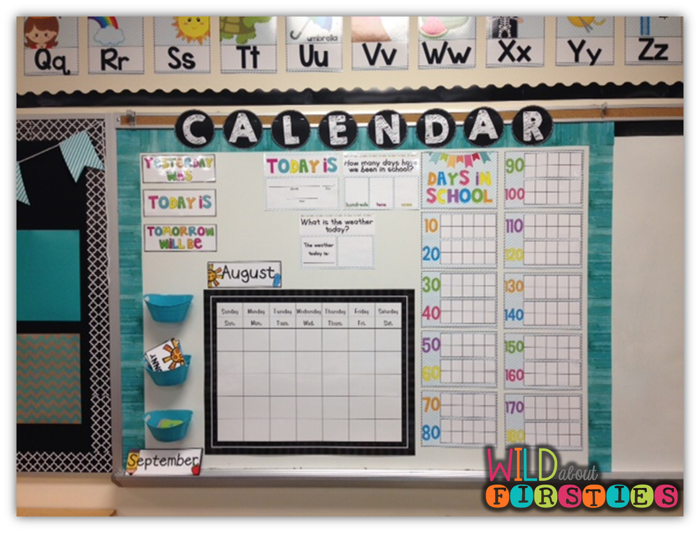 Calendar For Kids In Classroom : Wild about firsties the calendar