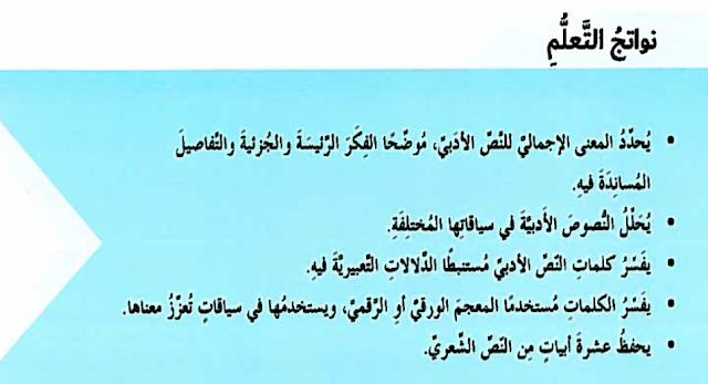 إلى شباب بلادي لغة عربية صف ثامن فصل أول