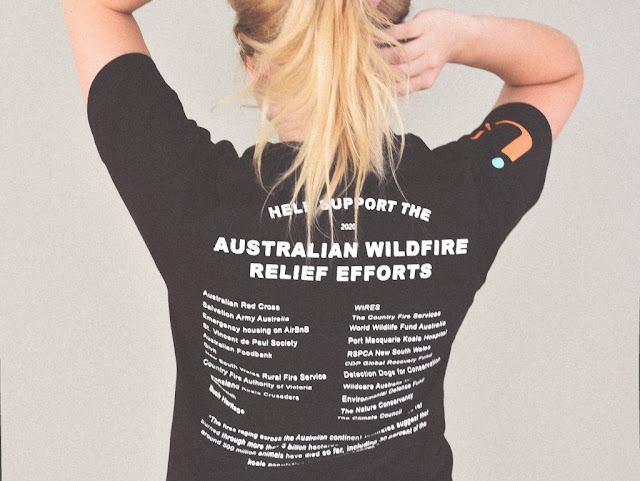 The 'Support Australia' t-shirts from Ruckify have a list of organisations you can help during and after the bushfire crisis