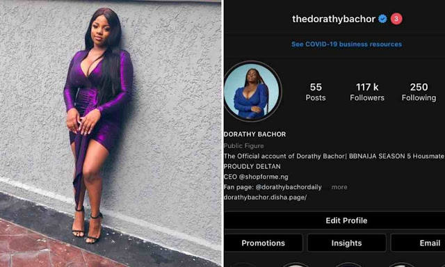 """BBNaija: """"My Father Told Me Not To Come Back Home After The Show"""" - Dorathy"""