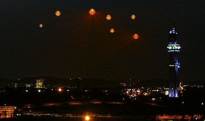 Orange Orbs Cause UFO Buzz - Centurion, Pretoria South Africa 12-31-12