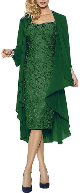 Short Green Mother of The Groom Dresses