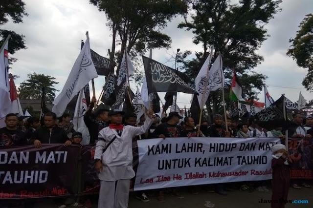 Ribuan Massa Aksi Bela Tauhid Serukan Tujuh Tuntutan