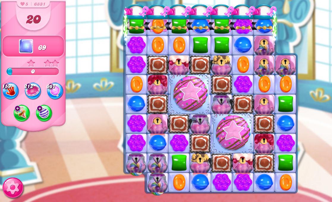 Candy Crush Saga level 6831